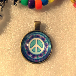 PEACE SIGN  Pendant Necklace - Festival Fashion